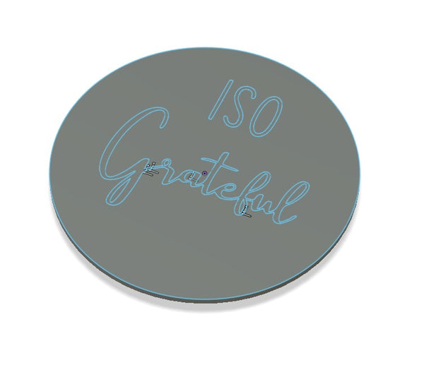 ISO Grateful Cookie Emboss Stamp