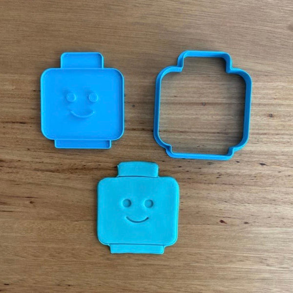 "Lego Character Head Cookie Cutter, Face Stamp & Custom Stamp measures approx. 78mm tall x 70mm wide  See our Lego and Kids character range of cutters and stamps by typing ""Lego"" or ""Kids"" in our search bar."