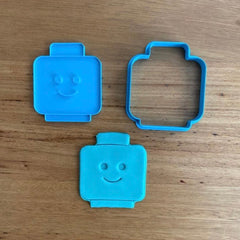 Lego Character Head Cookie Cutter, Face Stamp & Custom Stamp
