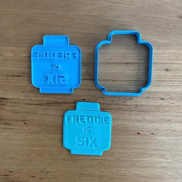 Lego Character Head Cookie Cutter, Face Stamp & Custom Stamp measures approx. 78mm tall x 70mm wide  See our Lego and Kids character range of cutters and stamps by typing