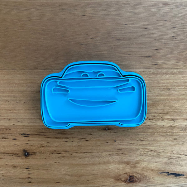 Lightning McQueen Cookie Cutter with Optional Stamp