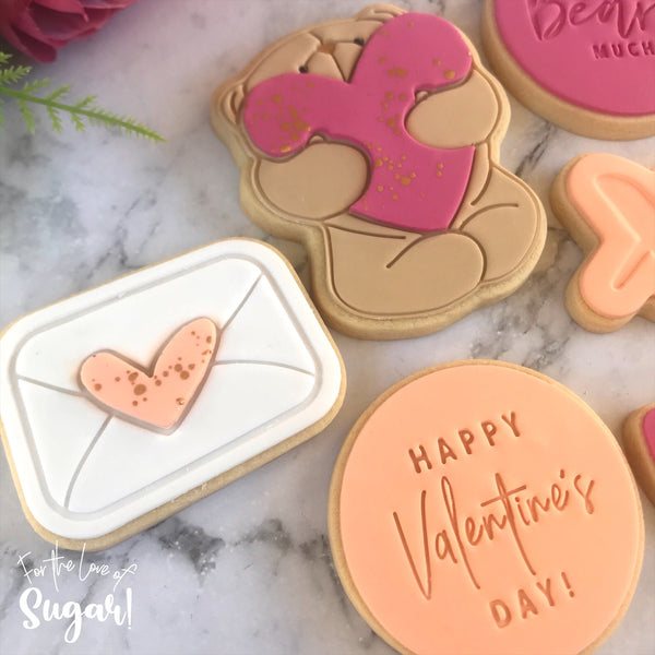 Love Letter Cutter and matching Emboss Stamp