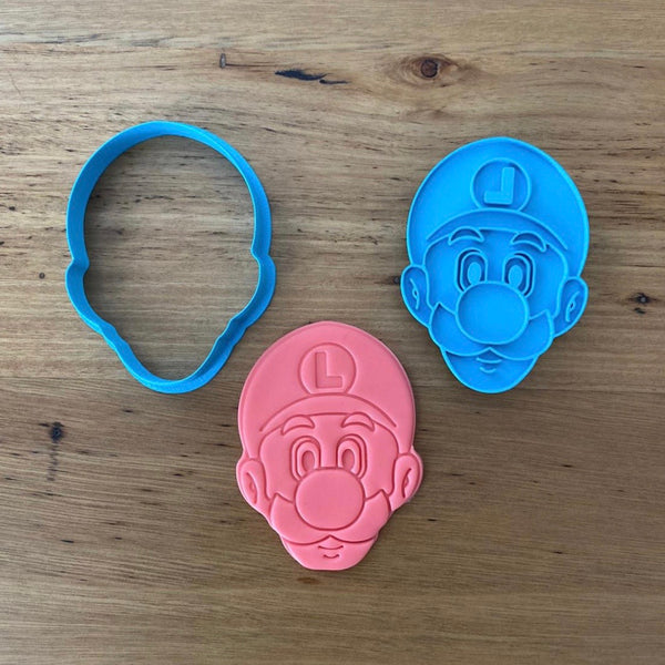 Luigi Cookie Cutter and optional Stamp