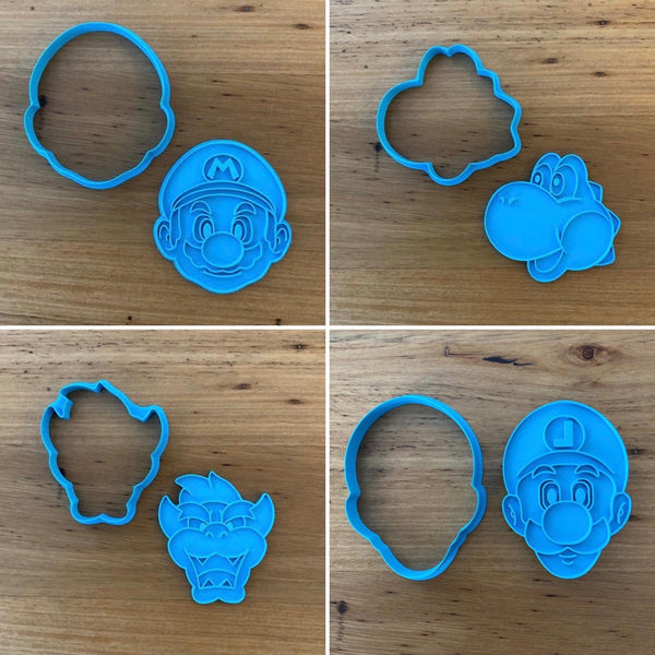 Mario, Luigi, Bowser, Yoshi from Cookie Cutter and optional Stamp