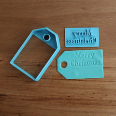 Merry Christmas Stamp Emboss and Tag Cookie Cutter