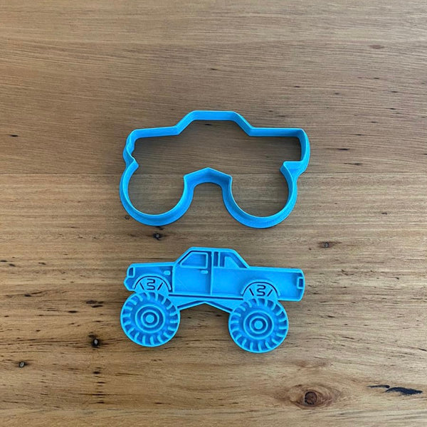 Monster Truck Cookie Cutter & optional Stamp