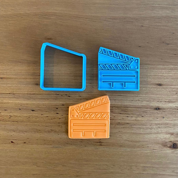 Movie Clapperboard Cookie Cutter & Emboss Stamp