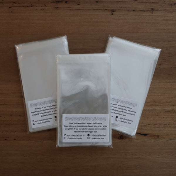 Food Grade Reseal Bags 35 microns 75mm x 180mm pack of 100, Australian Made