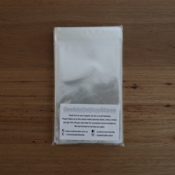 Food Grade Reseal Bags 35 microns 125mm x 200mm pack of 100, Australian Made