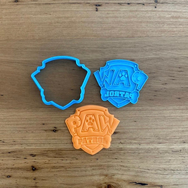 Paw Patrol Logo Cookie Cutter and optional Stamp