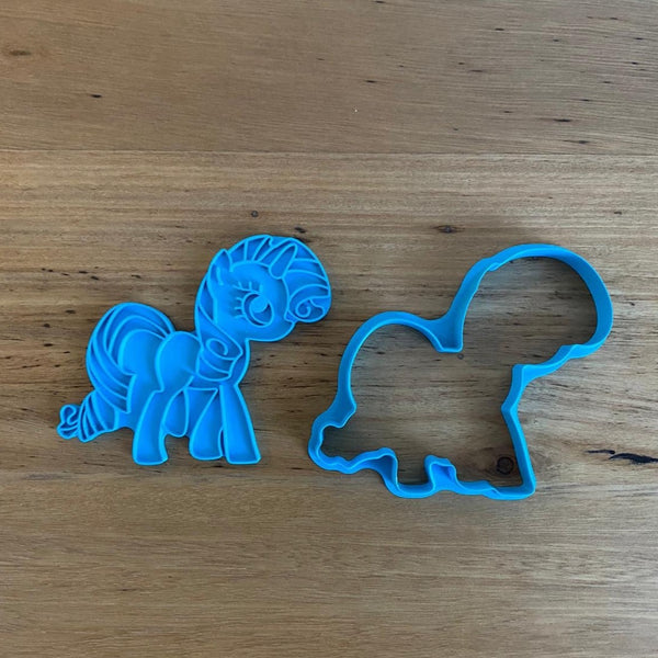 Rarity My Little Pony Cookie Cutter and Stamp Set