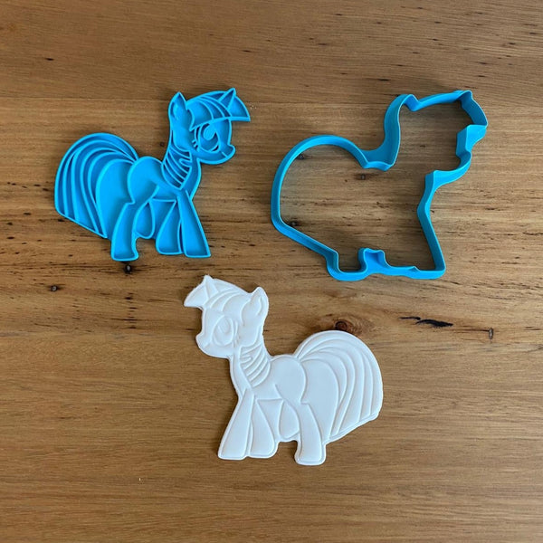 Twilight Sparkle - My Little Pony Cookie Cutter and Stamp Set
