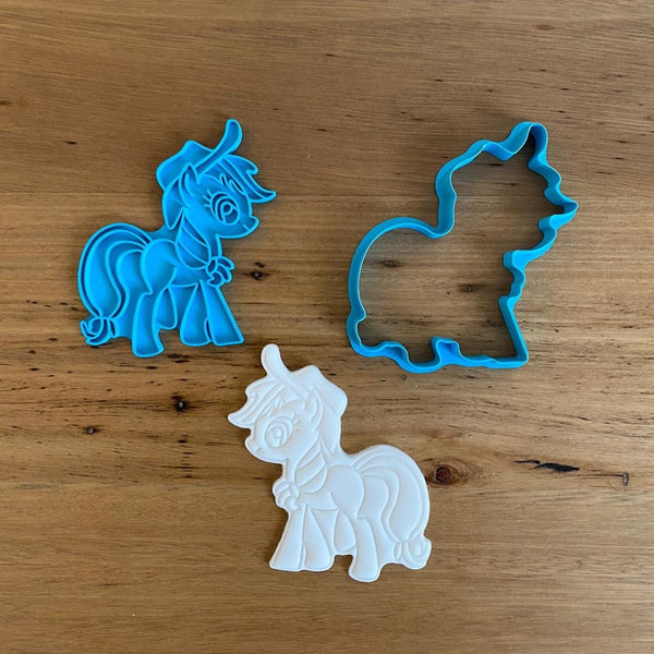 Apple Jack My Little Pony Cookie Cutter and Emboss Stamp