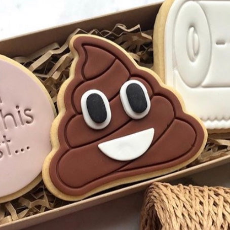 Poo Emoji Cookie Cutter & Stamp measures approx. 73mm tall by 80mm wide  Perfect for making you favourite super fun Emoji cookies. Need another Emoji, just ask us and we'll add it to our range with charging the custom rate!