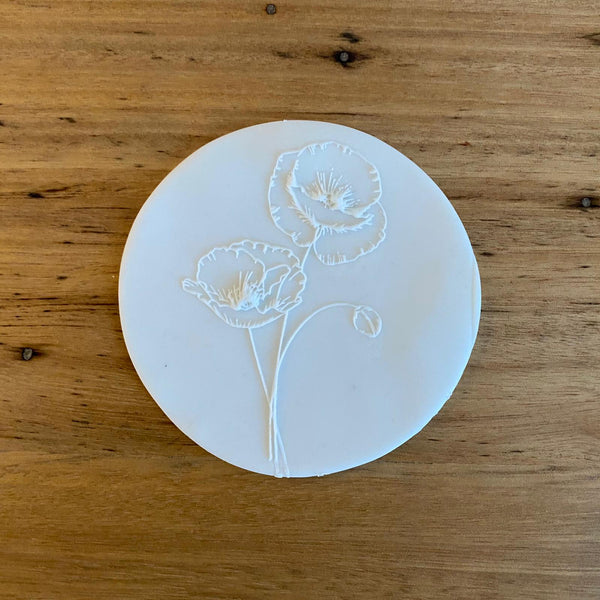 Poppy Style 1 Raised Effect Cookie Stamp