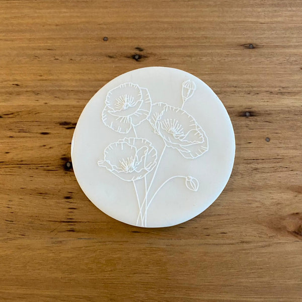 Poppy Style 4 Raised Effect Cookie Stamp