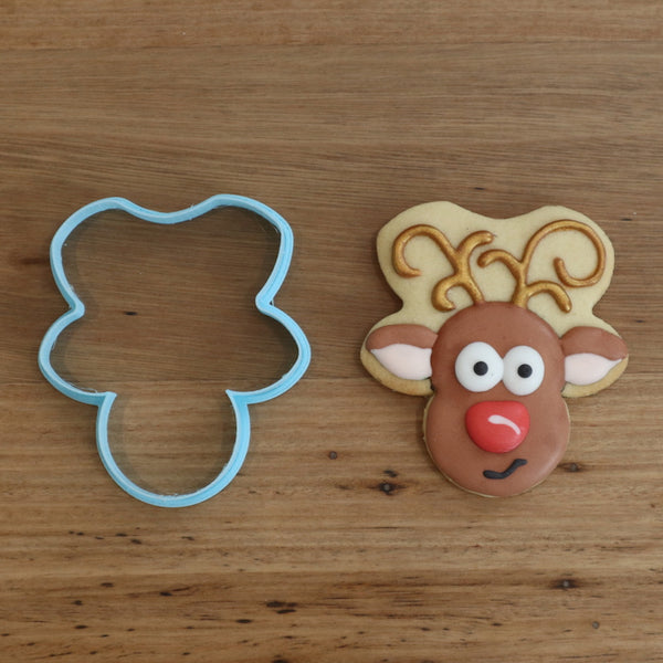 Reindeer cookie cutterOur Reindeer Head Cookie Cutter is perfect for making your festive cookie sets. 2 Reindeer options and many more styles, just search Christmas in store to see our full range!
