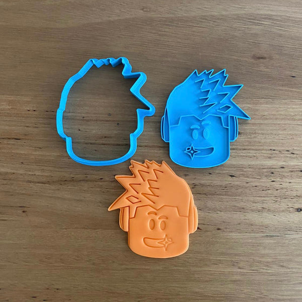 Roblox Character Head Cookie Cutter & Optional Stamp