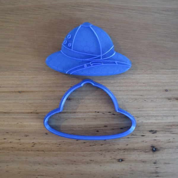 Safari Hat Cookie Cutter and Optional Fondant Stamp