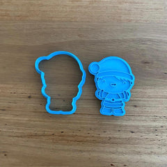 Santa Boy Cookie Cutter & Stamp NEW FOR 2020