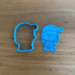 Santa Girl Cookie Cutter & Stamp NEW FOR 2020