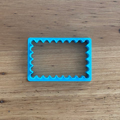 Scalloped Rectangle Cookie Cutter & Optional Stamp - 2 sizes