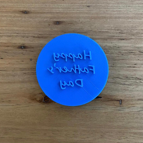 Happy Father's Day Emboss Stamp for 70mm Cookies  Visit us in store to see our wide range of items for Fathers Day and Mothers Day