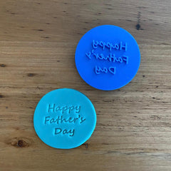 Happy Father's Day Emboss Stamp