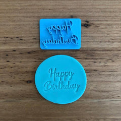 Happy Birthday Style #1 Emboss Stamp
