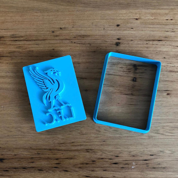 "Liverpool Football Club Cookie Cutter and Stamp, measures approx. 80mm tall by 60mm wide.  Be sure to look at our other Sport related items by searching ""Sport""."
