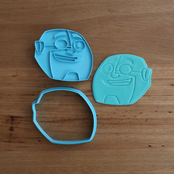 "Teen Titans Cyborg Cookie Cutter and Fondant Stamp measures approx. 75mm tall x 85mm wide. The other Teen Titan Characters are also available in store.  Also, don't miss our other Kids themed cookie cutters, search for ""Kids"" or Teen Titans by searching ""Titans"" in our search bar."