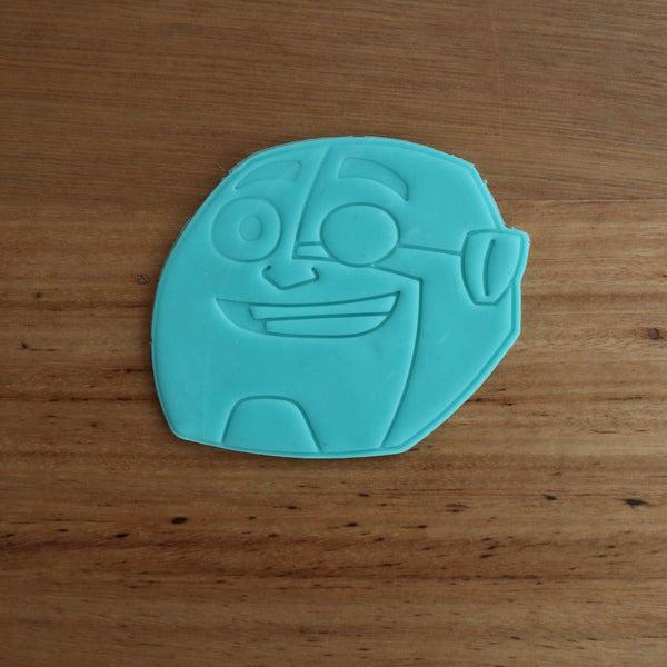 Teen Titans Cyborg Cookie Cutter and Fondant Stamp measures approx. 75mm tall x 85mm wide. The other Teen Titan Characters are also available in store.  Also, don't miss our other Kids themed cookie cutters, search for