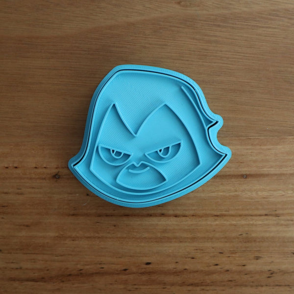 Teen Titans Raven Cookie Cutter and Fondant Stamp measures approx. 75mm tall. The other Teen Titan Characters are also available in store.  Also, don't miss our other Kids themed cookie cutters, search for