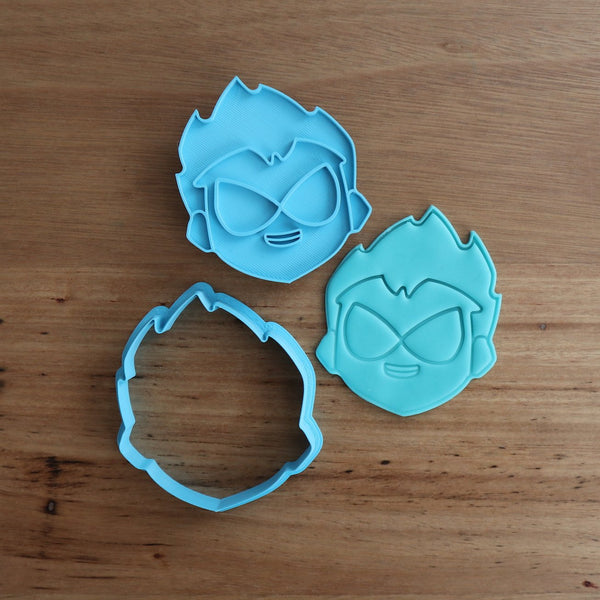 "Teen Titans Robin Cookie Cutter and Fondant Stamp measures approx. 75mm tall. The other Teen Titan Characters are also available in store.  Also, don't miss our other Kids themed cookie cutters, search for ""Kids"" or Teen Titans by searching ""Titans"" in our search bar."