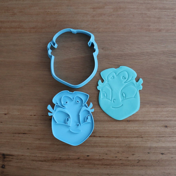 "Teen Titans Starfire Cookie Cutter and Fondant Stamp measures approx. 75mm tall x 65mm wide. The other Teen Titan Characters are also available in store.  Also, don't miss our other Kids themed cookie cutters, search for ""Kids"" or Teen Titans by searching ""Titans"" in our search bar."