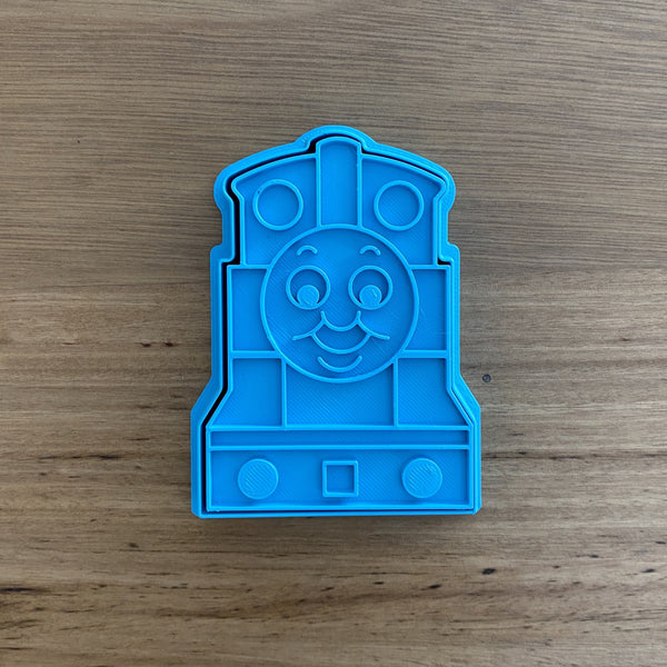 Thomas the Tank Engine Cookie Cutter and optional Stamp, measures approx 80mm (h) x 60mm (w)  Don't miss our other Kids themes by searc