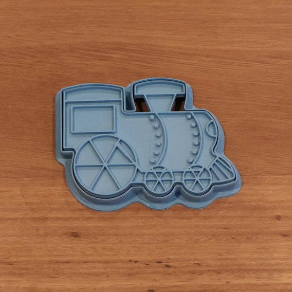 Train Cookie Cutter and optional Stamp measures approx. 65mm tall by 90mm wide.  You can choose just the outline cookie cutter or add the stamp for fondant or royal icing decoration.  Also, don't miss our other vehicle themed cookie cutters, search for