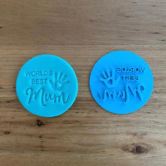 """World's Best Mum"" Mother's Day style #5 Emboss Stamp"