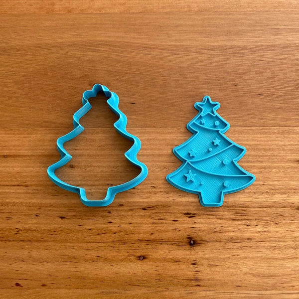 Christmas Tree Style #1 Cookie Cutter & Stamp NEW FOR 2020