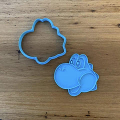 Yoshi from Mario Brothers Cookie Cutter and optional Stamp