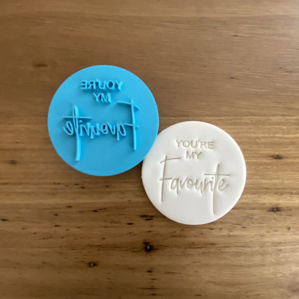 """Your My Favourite"" Cookie Emboss Stamp"