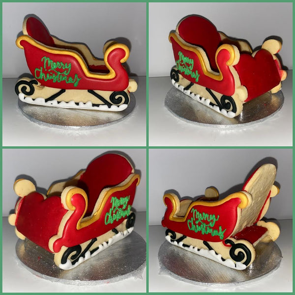 Santa sleigh 5 piece cookie cutter kit