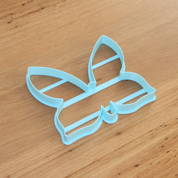 Butterfly cookie cutter with and without stamp emboss lines
