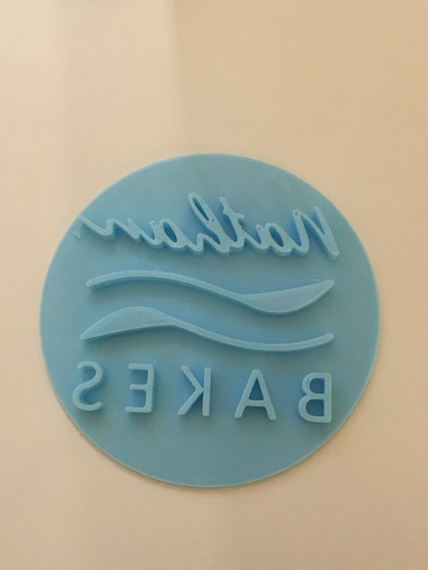Custom designed Cookie or Fondant Stamp Logo