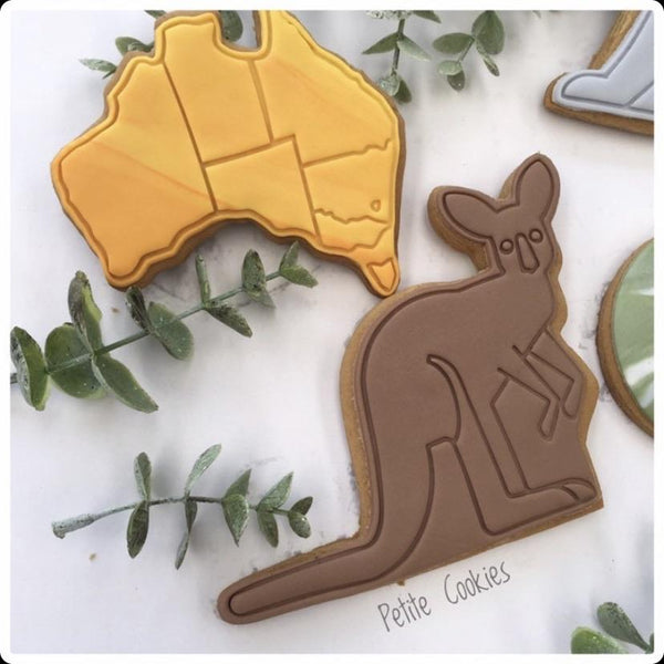 Kangaroo Cookie Cutter style #1 Cutter and optional Stamp cookiecutterstore