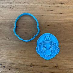 Mario Cookie Cutter and optional Stamp