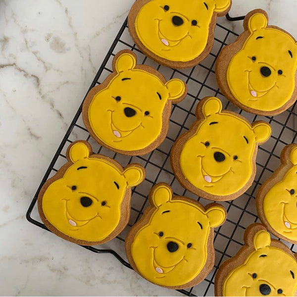 Winnie the Pooh Cookie and Fondant Cutter with Stamp