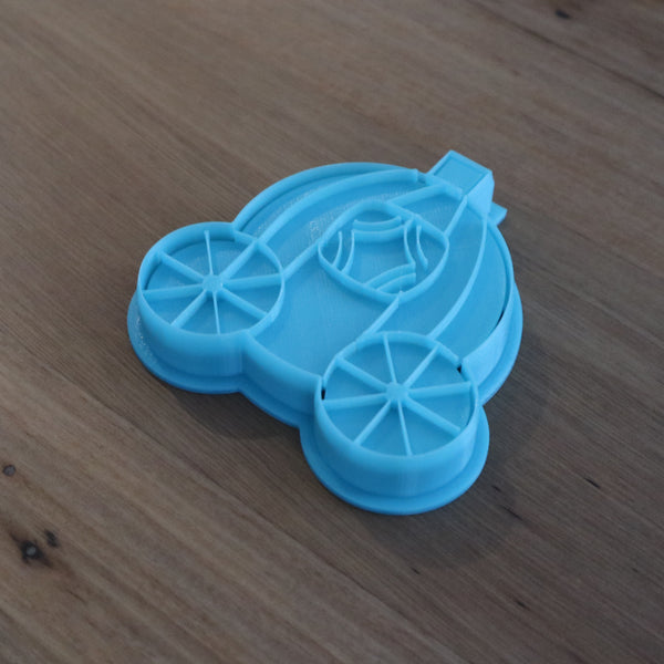 Cinderella Carriage Cookie Cutter and optional Stamp