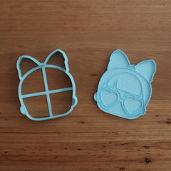 LOL Doll Style #3 - Cookie Cutter, Fondant Cutter & Stamp Set