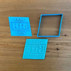 May The 4th Be With You Star Wars Cookie Cutter and Stamp Set